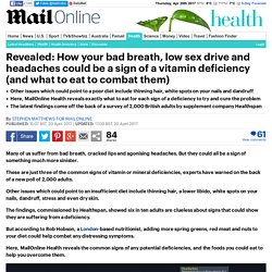 How bad breath could be a sign of a vitamin deficiency