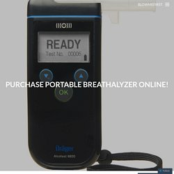 Purchase portable breathalyzer online!