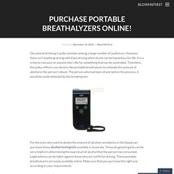 Purchase Portable Breathalyzers online!