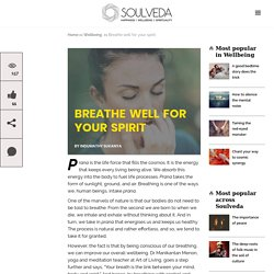 Breathe well for your spirit