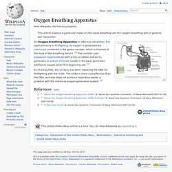 Oxygen Breathing Apparatus