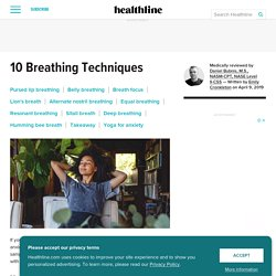 10 Breathing Exercises to Try: For Stress, Training & Lung Capacity