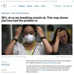 92% of us are breathing unsafe air. This map shows just how bad the problem is