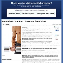 Countdown workout: leave me breathless - www.phillyburbs.com: Fit4life