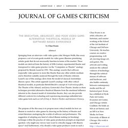 The Brechtian, Absurdist, and Poor Video Game by C. Evans — Journal of Games Criticism
