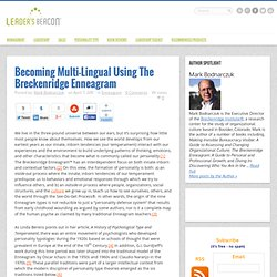 Becoming Multi-Lingual Using The Breckenridge Enneagram