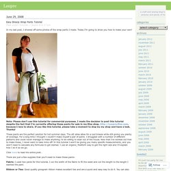 Easy Breezy Wrap Pants Tutorial