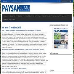 En bref : 7 octobre 2016 – Paysan du Midi