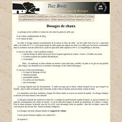 TiezBreiz - Dosages de mortiers à la chaux