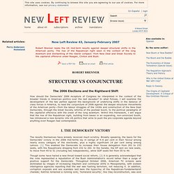 Robert Brenner: Structure vs Conjuncture