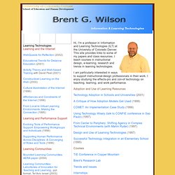 Brent Wilson's Homepage