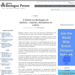 L'éolien en Bretagne et ailleurs : espoirs, déception et colère