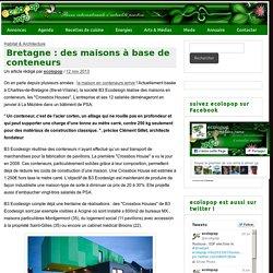 Bretagne : des maisons à base de conteneurs - ecoloPop