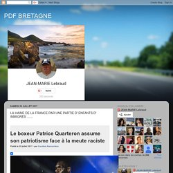 PDF BRETAGNE: LA HAINE DE LA FRANCE PAR UNE PARTIE D' ENFANTS D' IMMIGRÉS .......