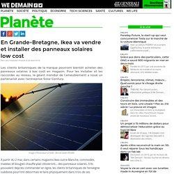En Grande-Bretagne, Ikea va vendre et installer des panneaux solaires low cost