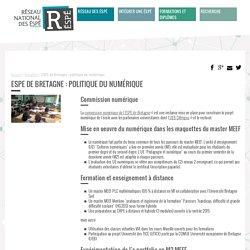 ESPE de Bretagne : politique du numérique