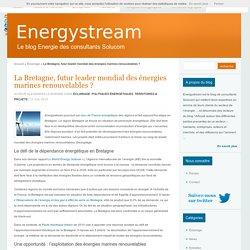 La Bretagne, futur leader mondial des énergies marines renouvelables ?