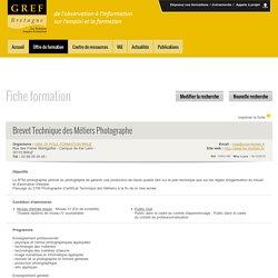 [Gref Bretagne]Brevet Technique des Métiers Photographe