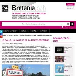 le portail des cultures de Bretagne - Le gallo, la langue de la Haute-Bretagne