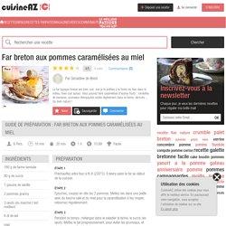 Far breton aux pommes caramélisées au miel