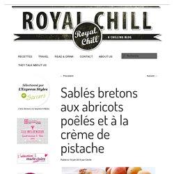 Sablés bretons aux abricots poêlés et à la crème de pistache