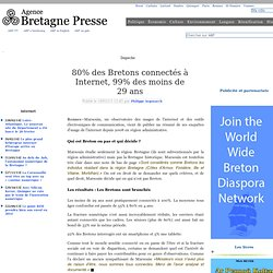 80% des Bretons connectés à Internet, 99% des moins de 29 ans.