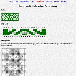 (Steinmaus) Homepage - Brettchenweben: Muster (Schnurbindung)