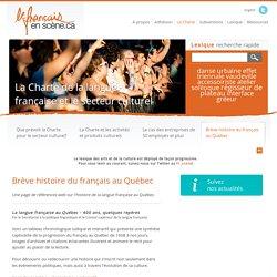 Brève histoire du français au Québec - Le français en scène