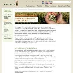 Breve historia de la agricultura