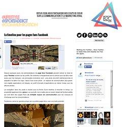 La timeline pour les pages fans Facebook