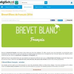 BREVET BLANC Francais 2016 - Epreuve de Francais DNB