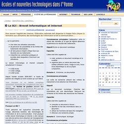 Le B2i : Brevet Informatique et Internet