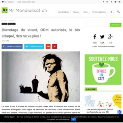 Brevetage du vivant, OGM autorisés, le bio attaqué, rien ne va plus