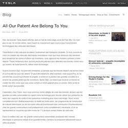 Tous nos brevets vous appartiennent