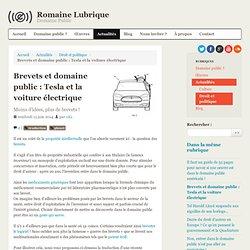 Brevets et domaine public : Tesla et la voiture électrique