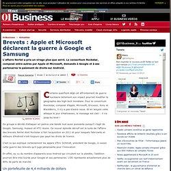 Brevets : Apple et Microsoft déclarent la guerre à Google et Samsung