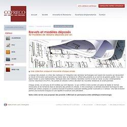 Les brevets & modèles déposés de portails alu bois PVC acier