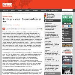 Brevets sur le vivant : Monsanto débouté en Inde