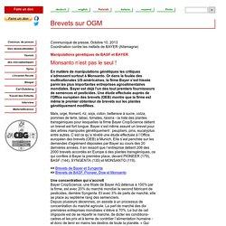 Brevets sur OGM