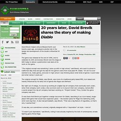 20 years later, David Brevik shares the story of making Diablo