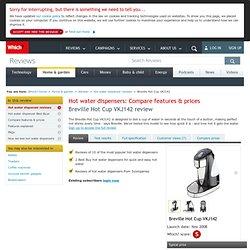 Full Specification - Breville Hot Cup VKJ142 - Hot water dispenser reviews - Kitchen