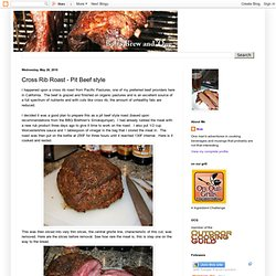 Cross Rib Roast - Pit Beef style