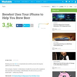 Brewbot Uses Your iPhone to Help You Brew Beer