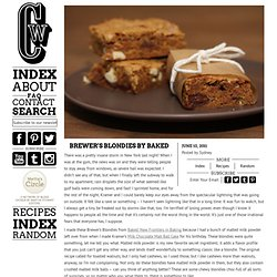Brewer's Blondies by Baked