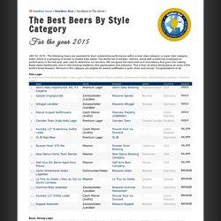 The best beers by style category for the year 2015