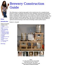 Brewery Construction