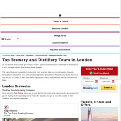 Top Brewery and Distillery Tours in London