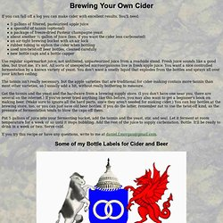 Brewing Your Own Cider