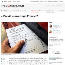 «Brexit», avantage France?