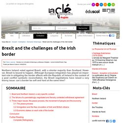 Brexit and the challenges of the Irish border